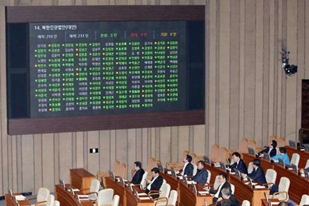 북한인권법 통과