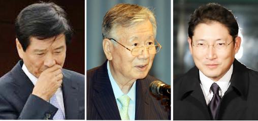 ▲(왼쪽부터) 남상태 전 대우조선해양 사장, 이중근 부영그룹 회장, 조현준 효성 사장