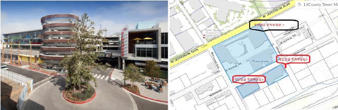 ▲(왼쪽) 국민연금이 인베스코와 공동매입한 런웨이플라야비스타 ▲국민연금이 인베스코와 공동매입한 '런웨이플라야비스타' - 1번은 대형상가, 3번은 고급아파트, 2번은 나대지