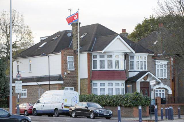 북한 영국 대사관 모습