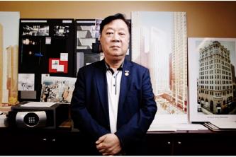 ▲ 중국계 부동산거부 존램그룹 존램회장은 뉴욕한인타운에 초대형 호텔을 신축중에 있다.