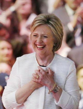 ▲힐러리 클린턴 민주당 후보