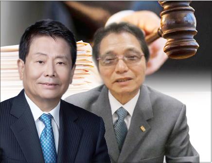 ▲ 제임스 안 전 회장(좌측)과 윤성훈씨