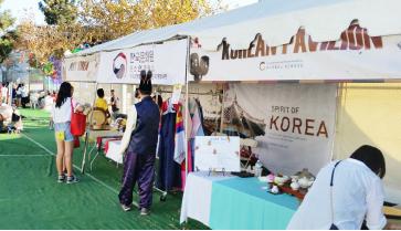 ▲ LA한인축제에 문화원 부스는 초라하기만 했다.