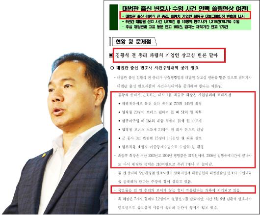 ▲ 이용주의원이 14일 대법원 및 법원행정처 국정감사와 함께 배포한 참고자료