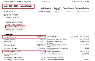 ▲ 최인진 BBCN 대출원장 - 시그니쳐라인오브크레딧 대출이며 대출자는 누비코 법인이 아니라 최인진 자신임이 드러났다.