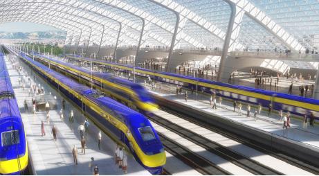 ▲ 코리아타운 전철의 미래상. 앞으로 LA전철은 캘리포니아의 중요 교통수단이 된다.
