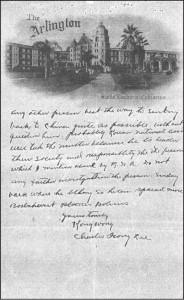 ▲ 도산 안창호 선생을 '볼셰비스트'로 모함하는 내용으로 작성된 영문 투서. 서한의 말미에 '콩 왕'과 '찰스 홍 이'라는 연명 서명이 붙어있다.