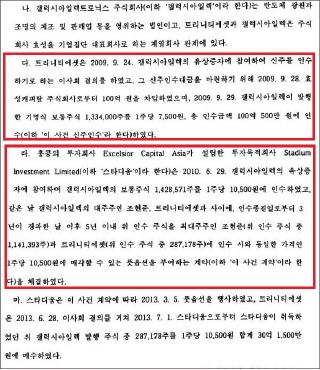 ▲ 조현문 손해배상소송 판결문 - 사실관계