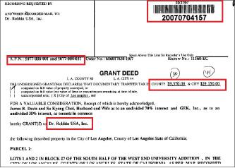 ▲ 닥터로빈유에스에이인크는 2007년 3월 870만달러를 전액 자체조달해 3000 웨스트6스트릿의 상가를 매입했다.