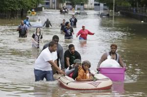 ▲ 지구온난화로 택사스지역에 폭우가 덥쳤다.