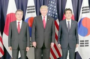 ▲ 뉴욕에서 한미일 3국 정상들이 북한제재를 논의한다.