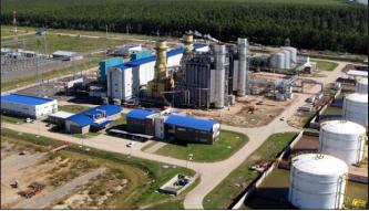 ▲ 현대건설이 시공한 우루과이최대의 복합화력발전소 전경