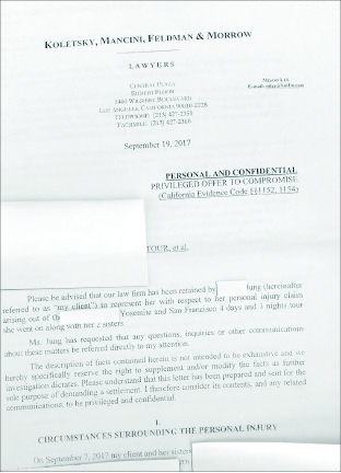 ▲ 피해고객이 법률사무소를 통해 법적으로 대응하고있다