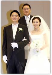 ▲홍정도 윤선영씨의 결혼식 장면
