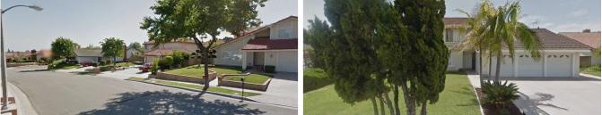 ▲ (왼쪽) 2014년 본보보도뒤 급매도된 2630 태리타운드라이브 플러톤 ▲ 2009년 한세대에 매각된 1424 파세오그란데 플러튼