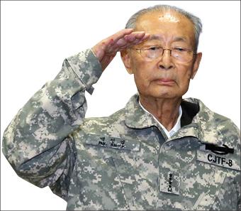 ▲미8군 명예사령관된  백선엽 장군