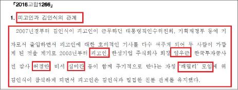 ▲ 법원판결문에 명시된 강만수 패밀리