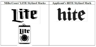 ▲ 밀러 쿠어스의 라이트 브랜드와 하이트진로의 하이트 브랜드
