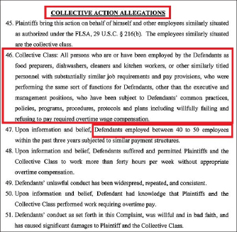 ▲ 멜빈 페레즈등 금강산 종업원 3명이 지난 4월 9일 뉴욕남부연방법원에 금강산과 유사장을 상대로 한 노동법소송장에서 비슷한 처지의 직원이 40-50명에 이른다며 집단소송으로 발전시킬 것이라고 밝혔다.