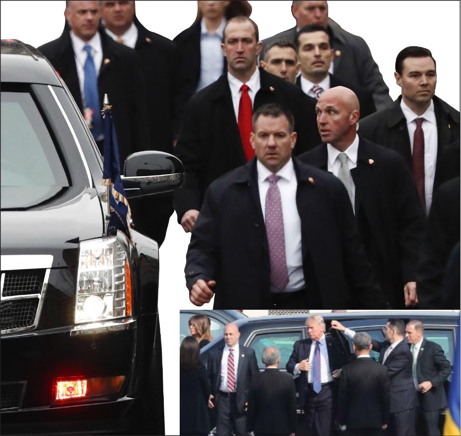 ▲ 트럼프 대통령의 경호대원들