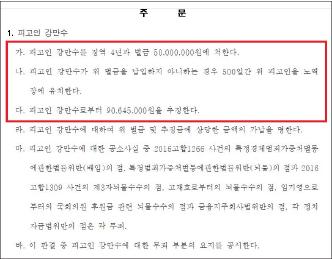 ▲ 강만수- 임우근 1심판결문