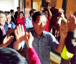 ▲ 마지막 투표자 김명균(전LA한인회장 ) 장로