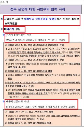 ▲ 2015년 11월 19일 법원행정처작성  '상고법원 입법추진등을 위한 협상추진전략'문건