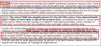 ▲ 2006년 6월 22일자 국가안보국 비밀문서 - 777부대가 하루 7만7천분분량의 북한통신을 감청, 미국측에 전달하고 있으며, 북한군통신의 75%를 커버하고 있다고 기록돼 있다.