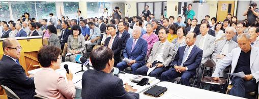 ▲남가주 한국학원 사립초등학교 폐교 이후를 논의하는 공청회가 열렸다.
