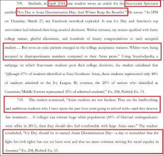 ▲ 스타이브슨고 교지 스펙테이터 2014년 4월 기사 '아이비데이는 아시안차별의 날'