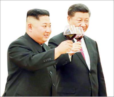 ▲김정은과 중국 시진핑 주석