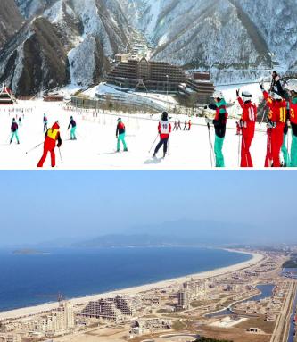 ▲통일이 되면 북한 관광사업이 활발해 진다.