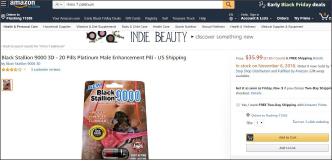 ▲ 이씨가 불법제조한 블랙 스탤런 9000은 세계최대인터넷쇼핑몰 아마존에서도 팔리고 있다.