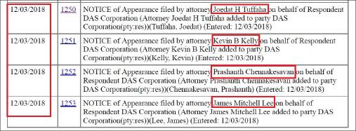 ▲ MB측이 새로 선임한 변호인은 모두 4명으로, 옵셔널벤처스와 연방판사가 답변명령거부에 대해 어떻게 대처할지 주목된다.