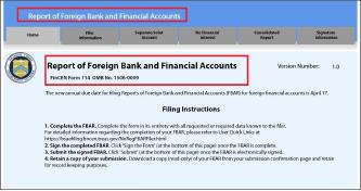 ▲ 해외에 잔액 만달러이상의 은행계좌를 가지고 있으면 FINCEN 114양식을 통해 이듬해 4월 15일까지 재무부에 이를 신고해야 한다.