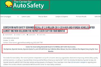 ▲ 소비자단체인 차량안전센터는 현대기아차 290만대 전체에 대한 강제리콜을 주장했으며, 이 경우 현대기아차가 부담해야 할 엔진교체비용은 8조5천억원에 달한다.