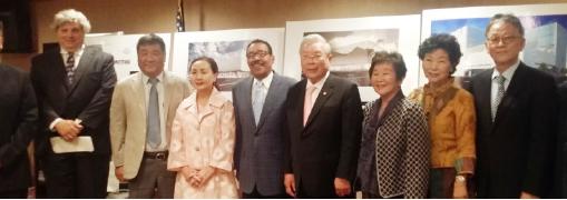 ▲지난 2015년 한미박물관 부지 결정과 건립계획을 발표한 관계자들