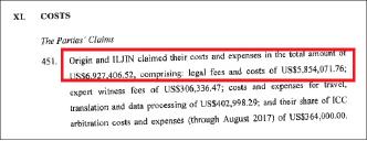 ▲ 일진머티리얼스와 오리진앤코는 중재재판과 관련한 변호사비용등으로 693만달러를 지출했다고 밝혔다.