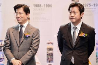 ▲ 허진규회장의 장남 허정석씨[좌]와 차남 허재명씨[우]