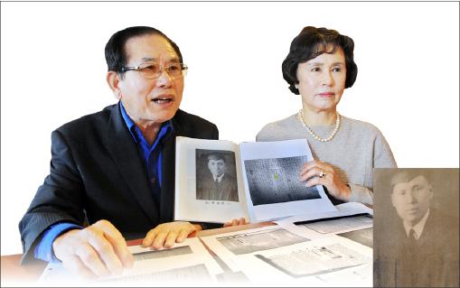 ▲ 정재덕 회장 부부가 조성환 독립운동 역사를 밝히고 있다.