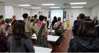 ▲LA한국교육원에서 거행된 도산 안창호 81주기 추모식