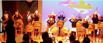 ▲ 발표회에서 난타 공연은 학부모들로 부터 많은 찬사를 받았다.