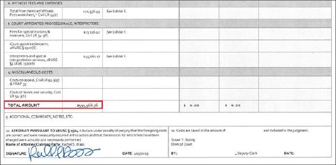 ▲ 오뚜기는 지난 2월 15일 59만6천달러에 달하는 소송비용청구서를 제출했다.