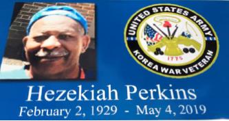 ▲ 6·25 참전 미군 헤즈니아 퍼킨스 묘비