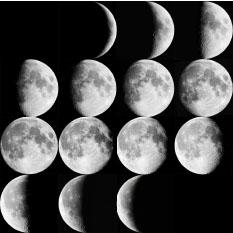 ▲ 달의 한달 변화모습