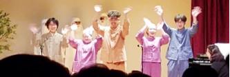 ▲동페라 예술단이 '금도끼 은도끼'공연을 하고있다.