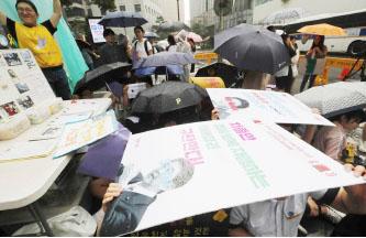 ▲일본의 대한무역제재 조치에 항의하는 한국국민들