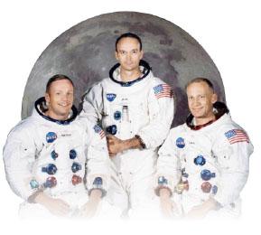 ▲  아폴로  11호 우주인