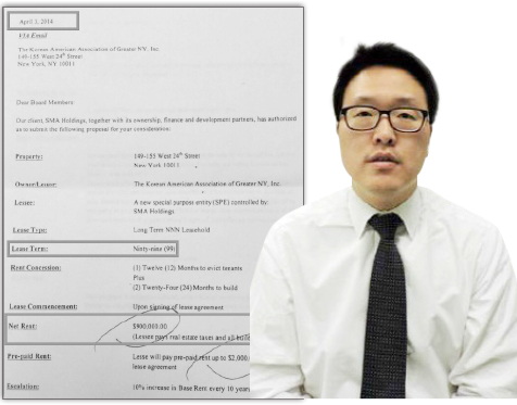 ▲ 반기문총장 조카 반우현측 99년 리스 제안서